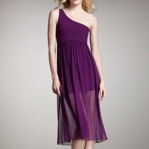 Alice & Olivia Kalyn Plum Chiffon dress NWT